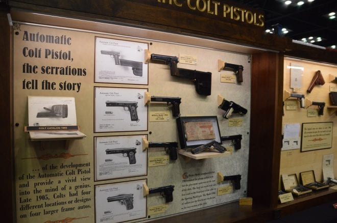 history display of colt pistols