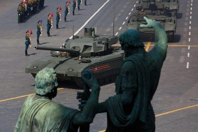 Russian Armata tank Victory parade 2019