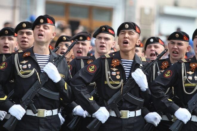 Russian Naval Infantry AK100 Victory parade 2019