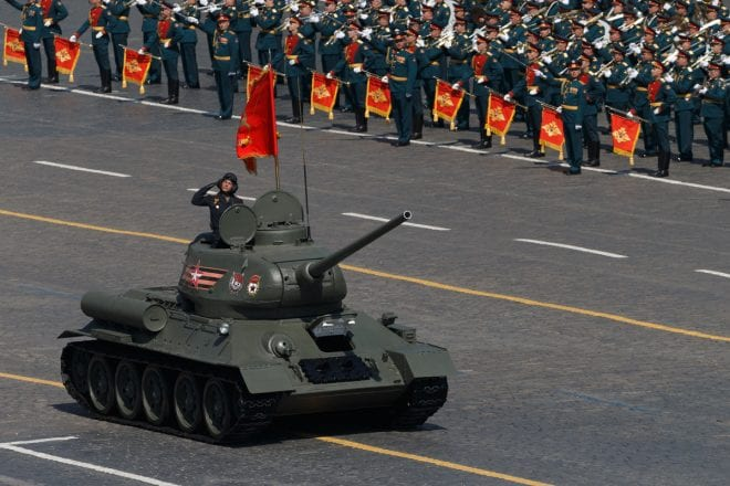 Russian T-34 Victory parade 2019