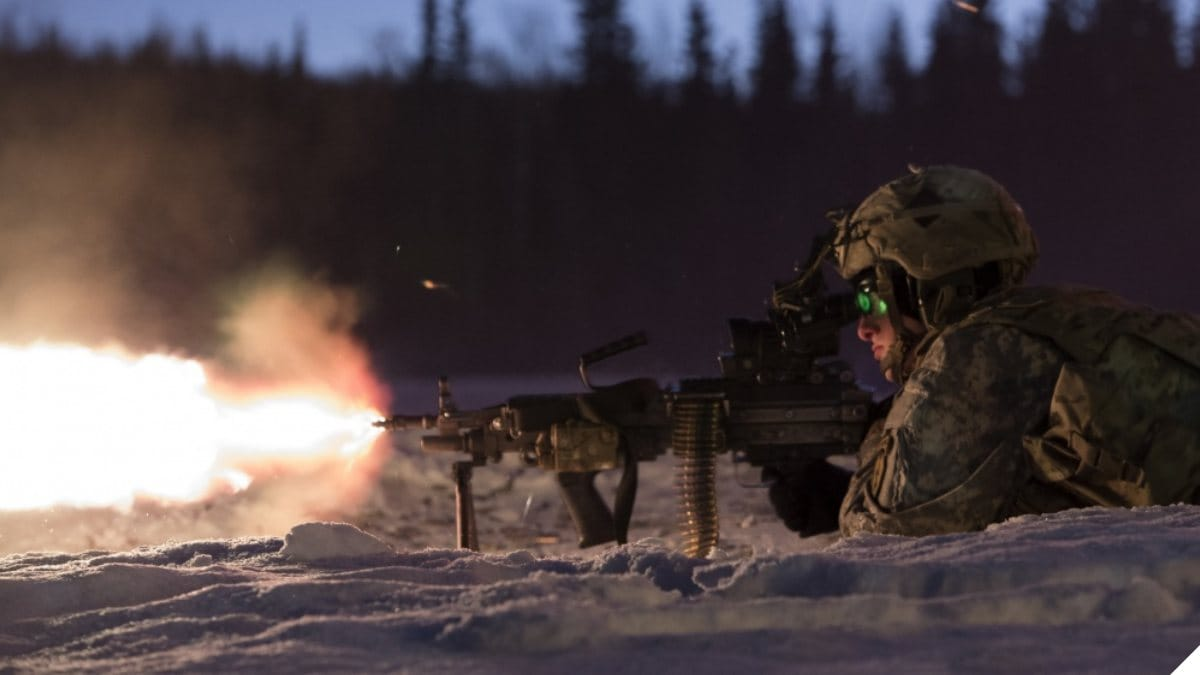 M249 SAW in use