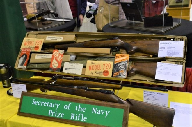 These four Remington Model 720s were awarded by the Secretary of the Navy to Marine Corps marksmen in 1980 and 1983