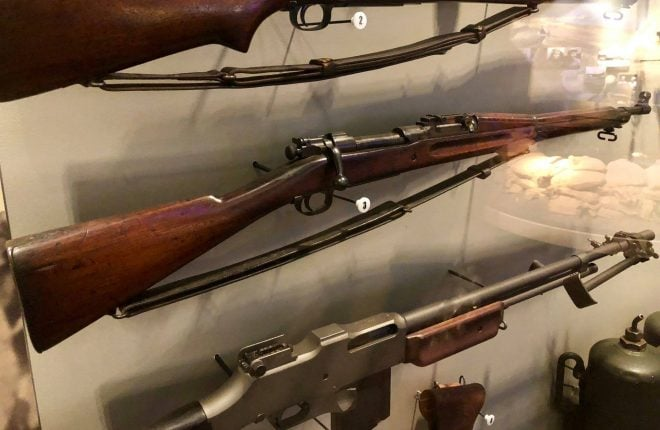 This M1903, currently in the collection of the U.S. Marine Corps Museum, was used by Marines defending the outnumbered outpost at Wake Island