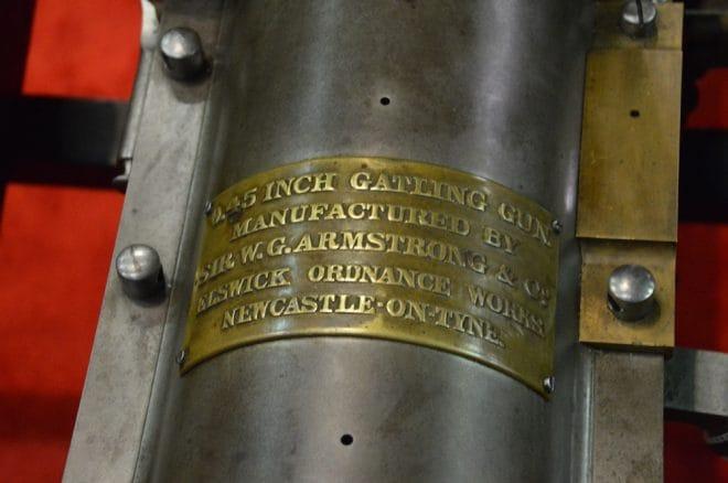W.G. Armstrong British Gatling Gun plate