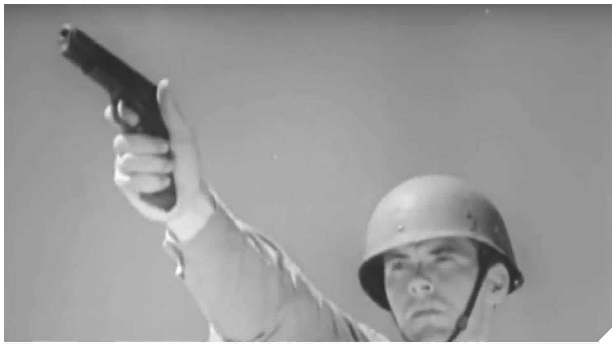 WWII 1911 GI soldier in M1 helmet