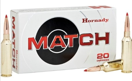 hornady match prc ammo box and bullets