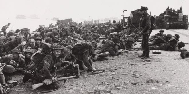 British troops D Day Enfields
