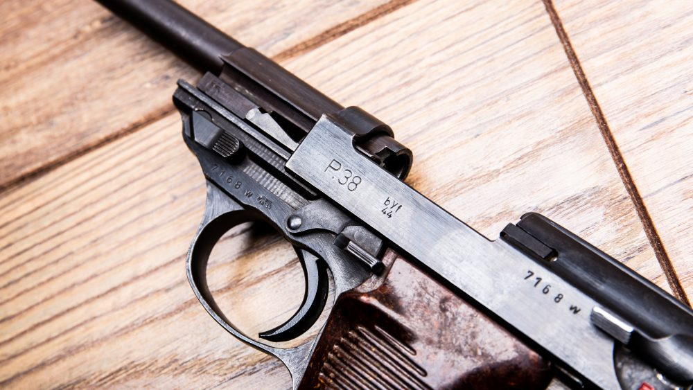Mauser P38 slide locked open