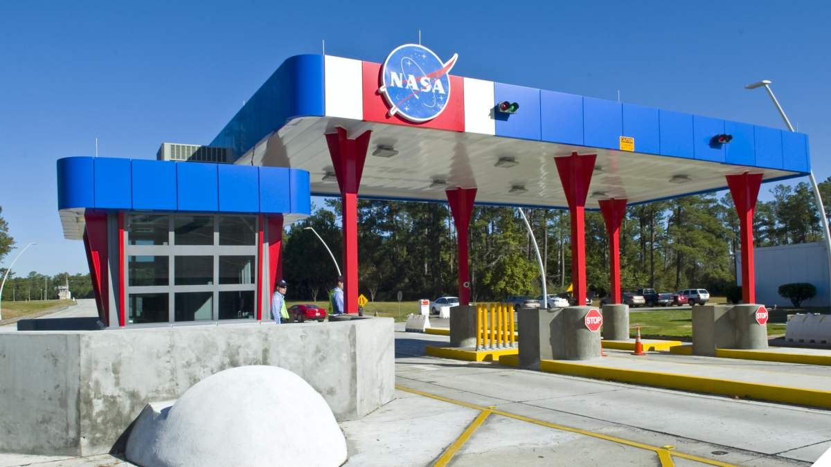 The south gate at NASA's John C. Stennis Space Center (Photo: NASA https://images.nasa.gov/details-SSC-20101202-S02734H.html )