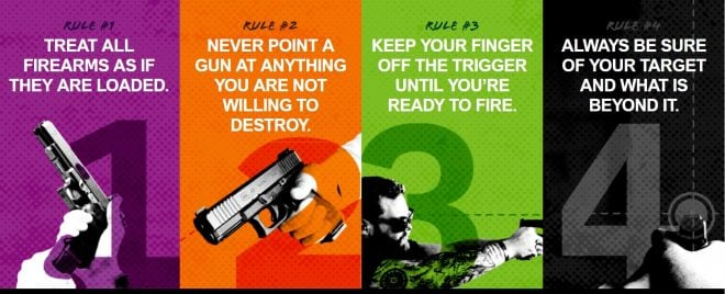 Glock take the four gun safety rules