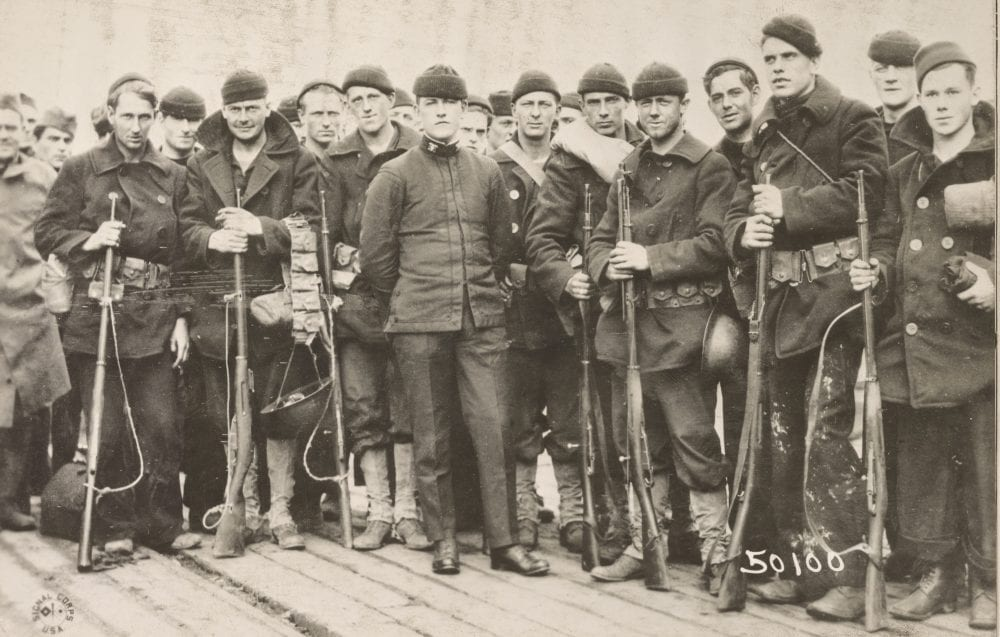 American-made Mosins were used by U.S. troops for training and, as seen with these Navy personnel, during the 1919-20 Intervention during the Russian Civil War. (Photo: National Archives)