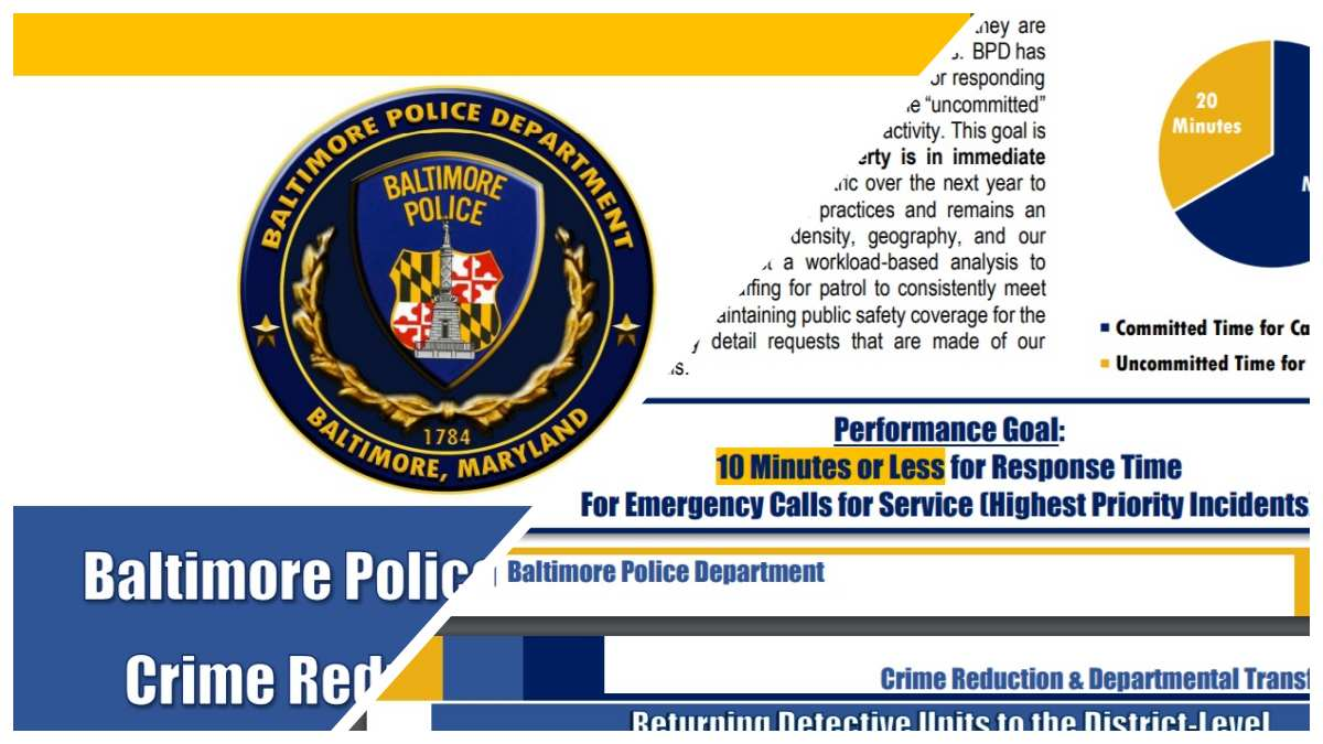 Baltimore PD Sets Goal of 10 Min Response to Emergency Calls