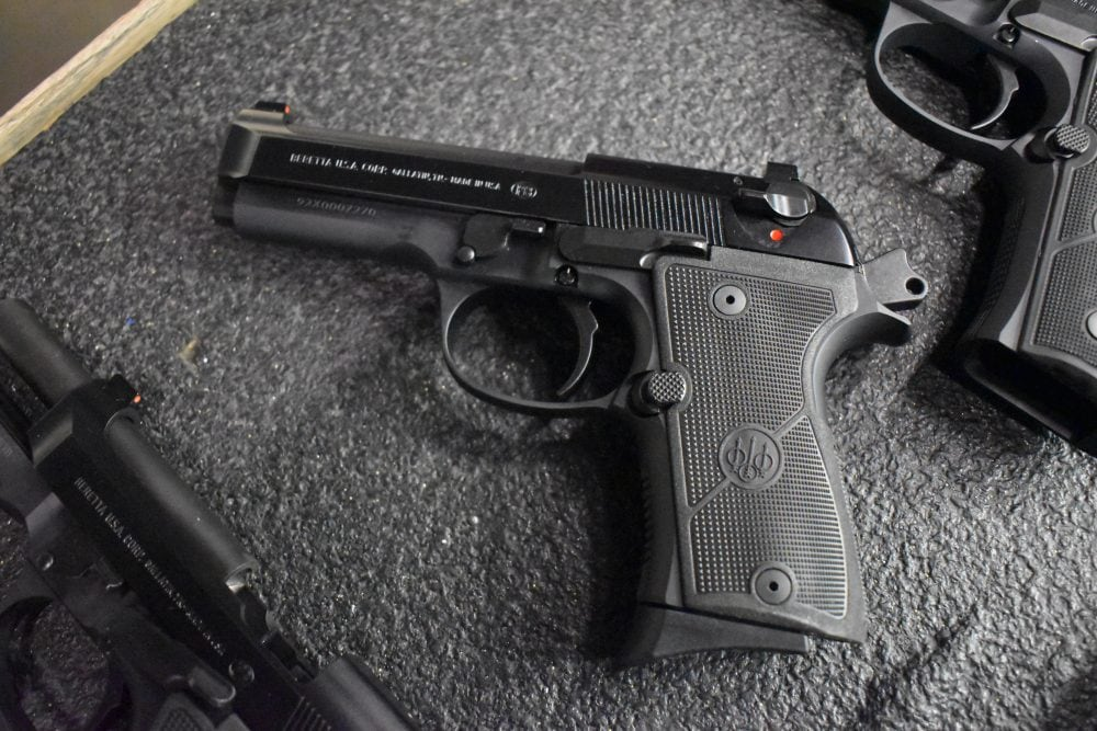 The Beretta 92X Compact with the classic smooth dustcover