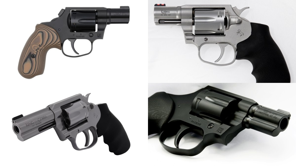 Colt: 4 New Cobra Revolver Models Approved for California Sales