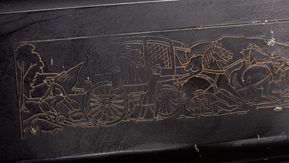 Colt Stagecoach engraving