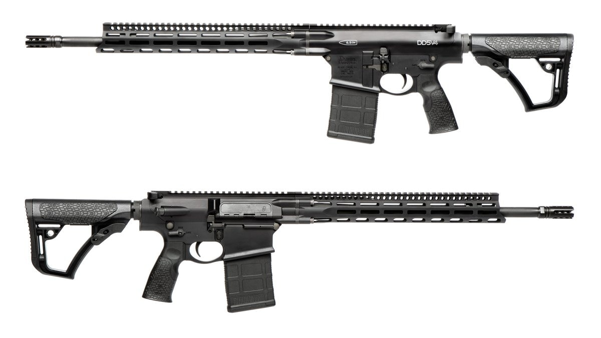 The DD5V4 in 6.5CM uses an 18-inch S2W barrel with a 1:8 twist. Overall length is 37-inches with the stock fully extended while weight, unloaded, is 8.6-pounds.