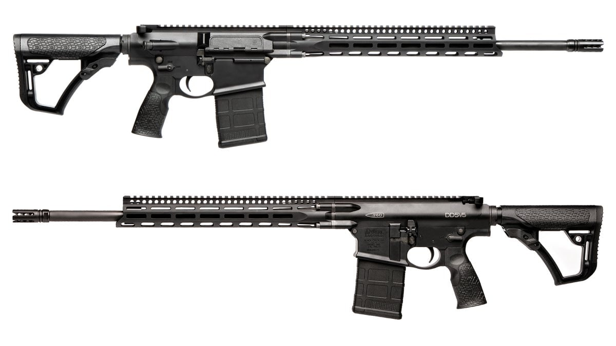 The DD5V5 in .260 Rem uses a 20-inch S2W barrel with a 1:7 twist. Overall length is 41.5-inches with the stock fully extended while weight, unloaded, is 8.9-pounds.