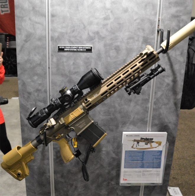 The very similar M110A1 CSASS, also made by HK. (Photo: Chris Eger/Guns.com)