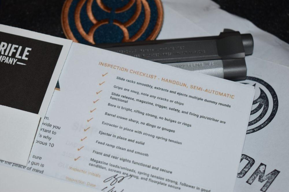 Gunscom used gun checklist