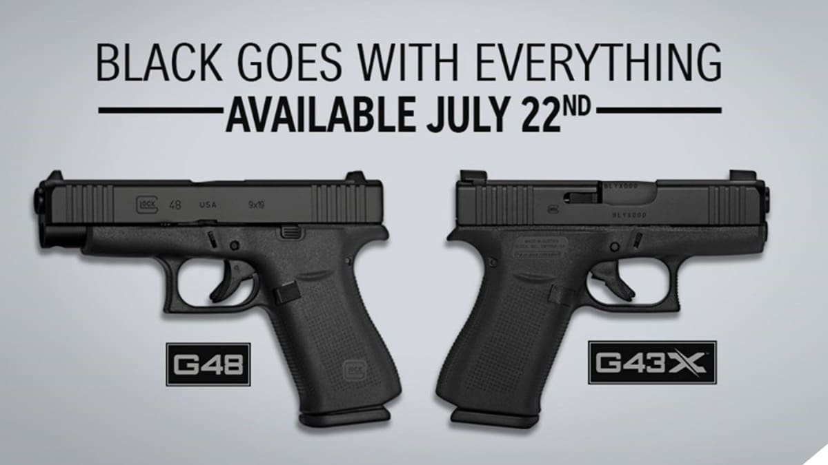 Glock Adds All-Black Factory Finish to G43X, G48 Models