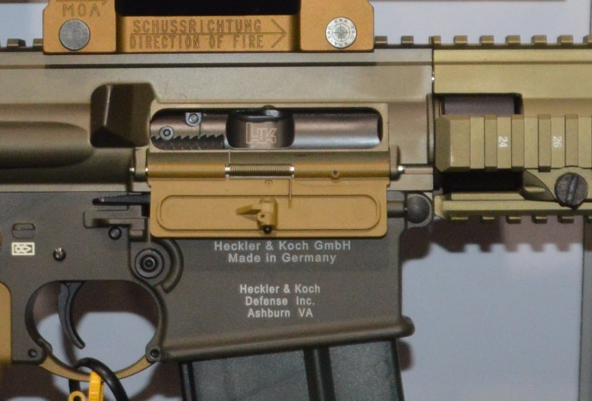 Heckler & Koch HK417 closeup by Chris Eger