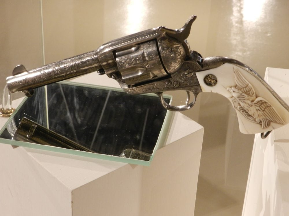 George S Patton's Colt revolver handgun