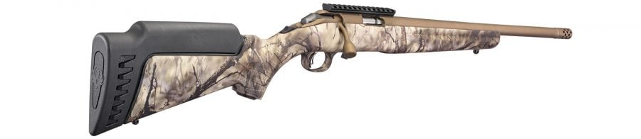 The rifles come standard, like other Ruger American Rimfire Rifles, with a 60-degree bolt throw and a tang safety. The lightweight synthetic stock is modular with an interchangeable length of pull and comb modules.