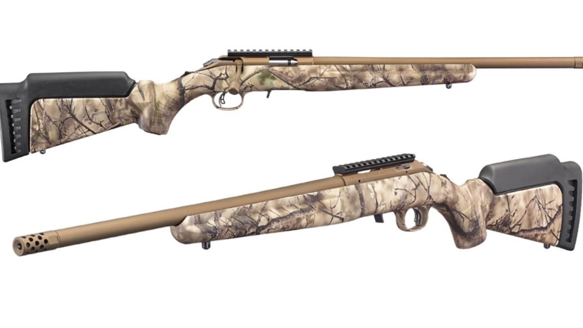 Ruger American Rimfire Rifles now Offered with Go Wild Camo I-M Brush Stocks