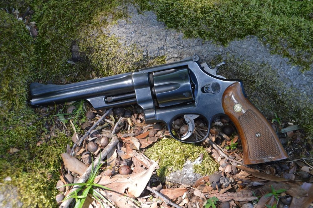 This S&W Model 28 Highway Patrolman N-frame revolver comes from an era where the standard state trooper gun was a large frame .357 and polymer framed pistols were still on the stuff of Sci-Fi. (Photo: Chris Eger/Guns.com)