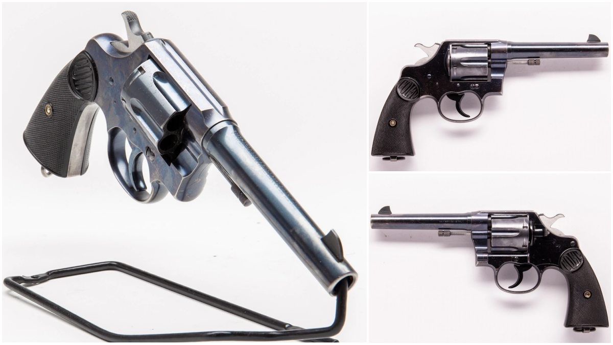 This Colt New Service up for grabs in the Guns.com Vault dates from the 1900s and is chambered in .45 Colt, what else?