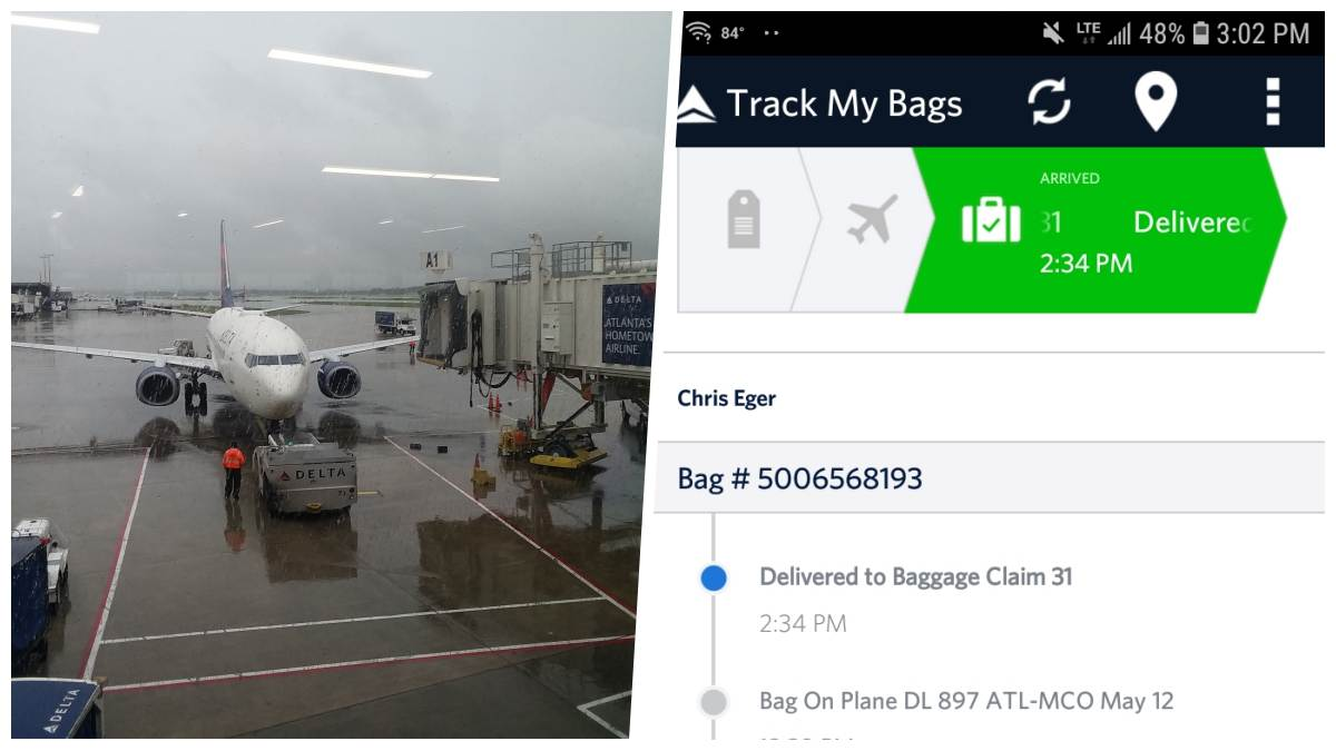Some airlines, such as Delta, use RFID trackers in the luggage tag so you can follow your bag's journey along with yours. Ask at the counter, if it is offered it will typically be a tab inside the airline's mobile app.