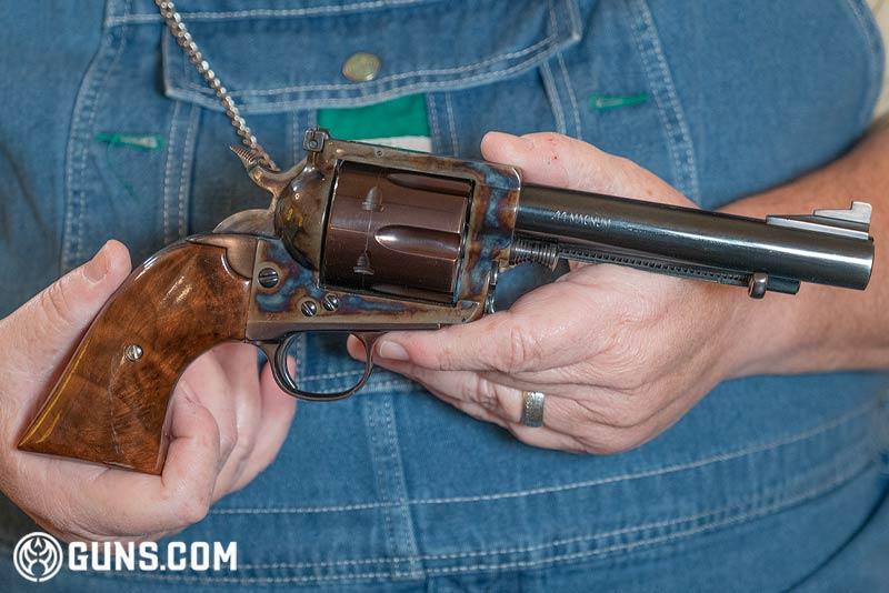 Texas Longhorn Arms 'Grover's Improved #5' .44 Magnum revolver. (Photo: Ben Philippi / Guns.com)