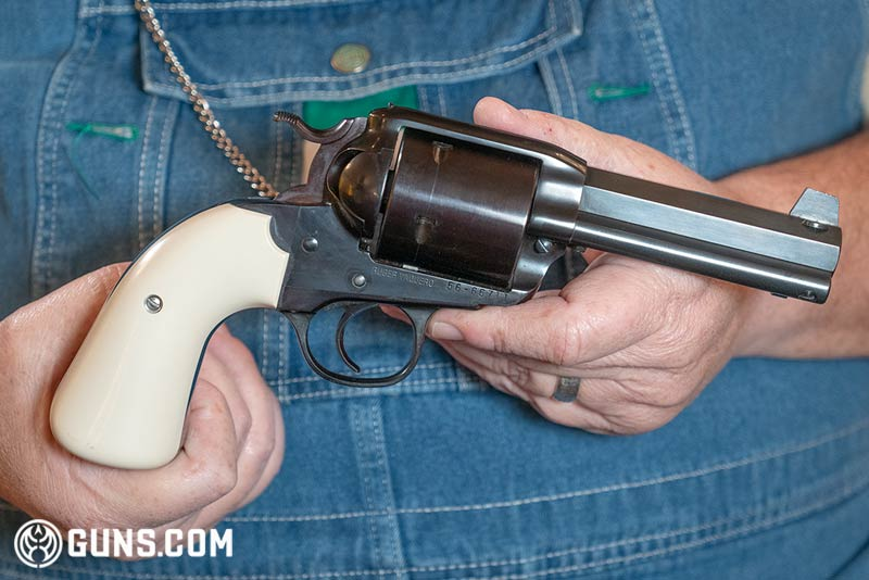 The Ruger Bisley Vaquero converted to .500 Linebaugh. (Photo: Ben Philippi / Guns.com)