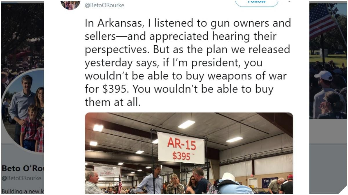 Beto ORourke on AR15s You Won't Be Able to Buy Them At All cover