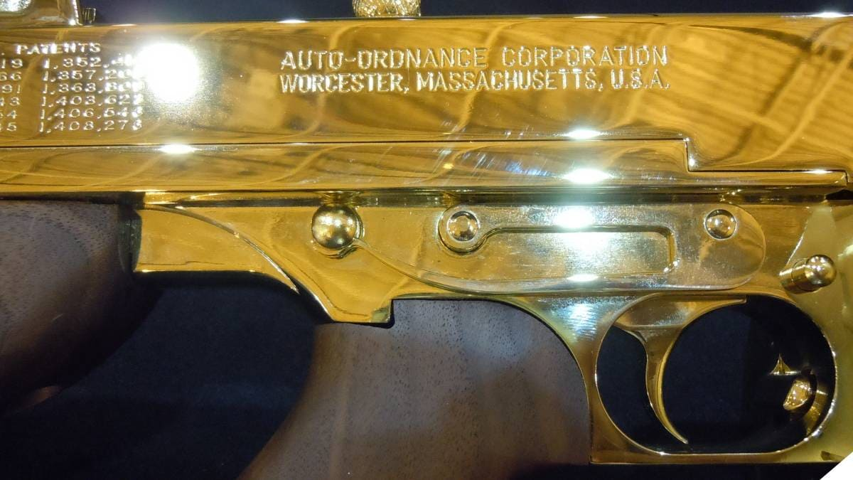 Gold plated Auto-Ordnance Thompson