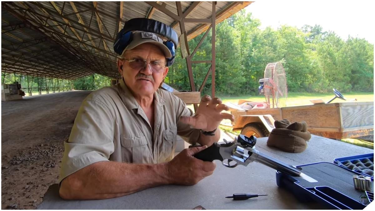 Just Jerry Miculek Pushing out to 200 Yards with a Revolver