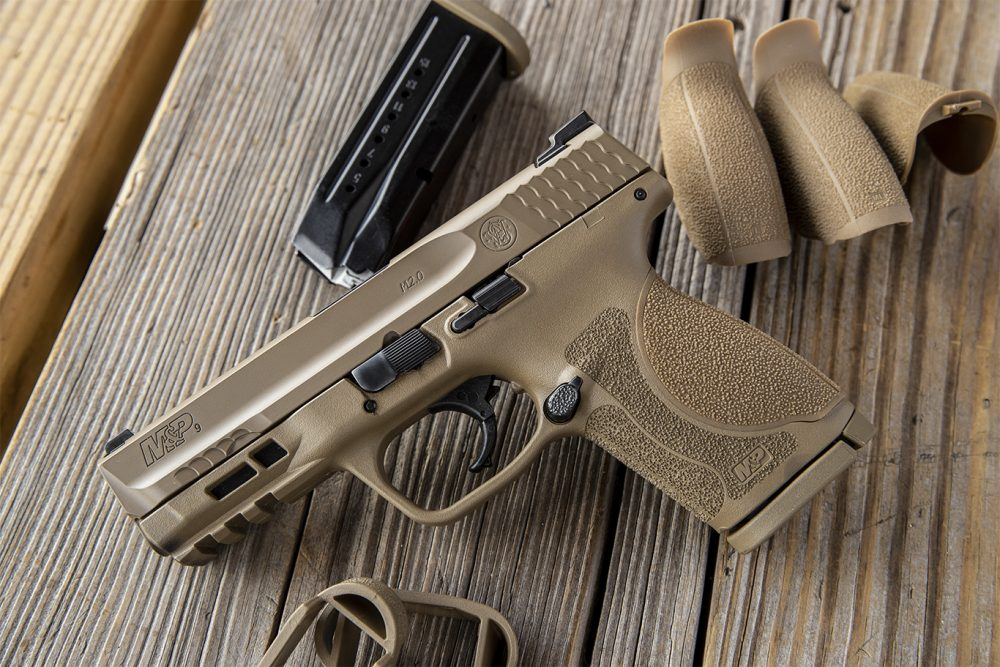 For those wanting something other than the traditional all-black format common to the M&P M2.0 Compact series, Smith now has the handgun in a version that is somewhat more flatter, darker and earthier. (Photo: S&W)