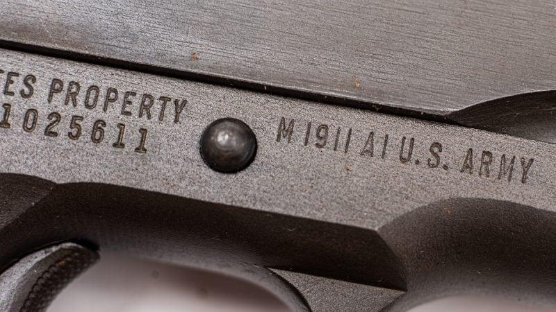 Remington Rand M1911A1 markings
