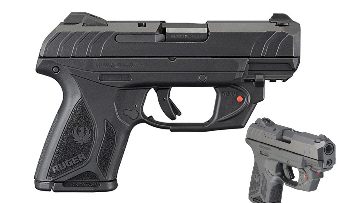 Ruger is now distributing a variant of their Security 9 Compact with a red Viridian E laser module included (Photos: Ruger)