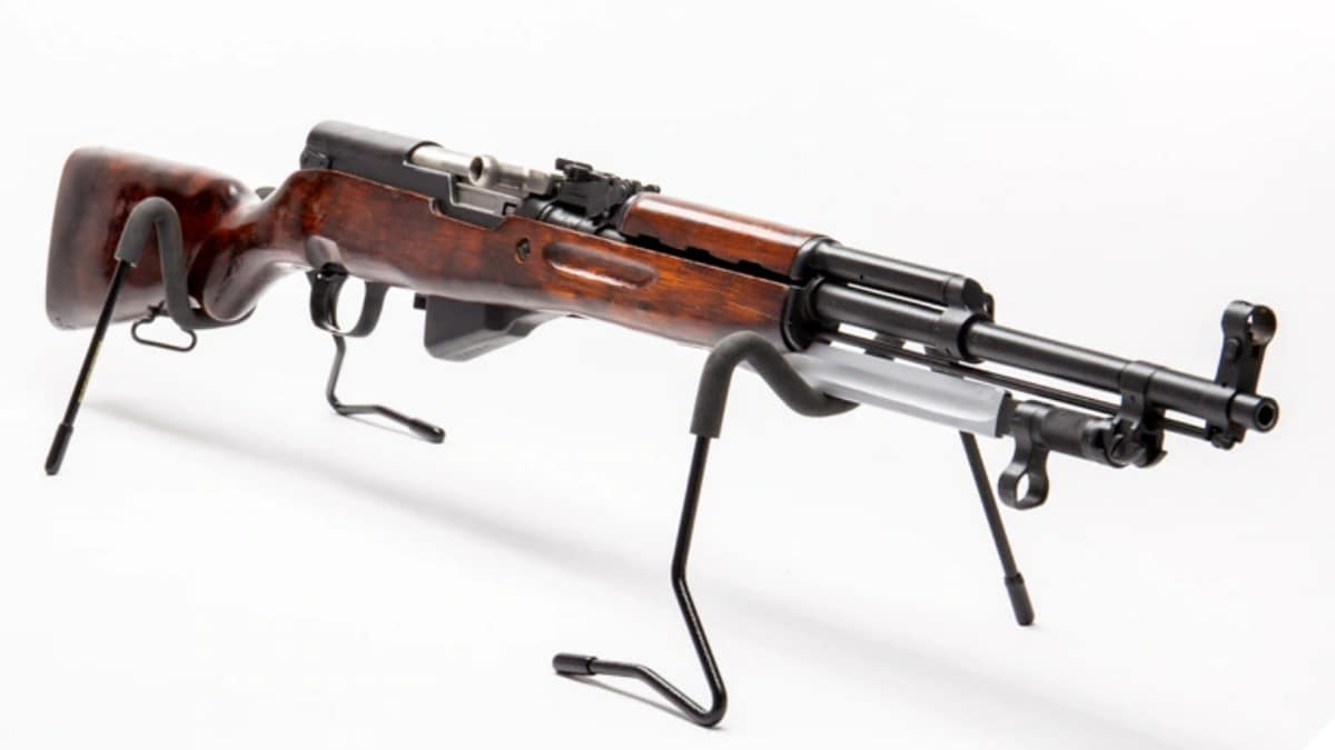Russian SKS-45 rifle on display