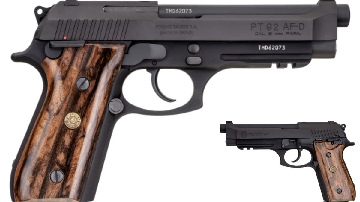 Taurus Announces New PT-92 Pistol Models with Walnut Grips