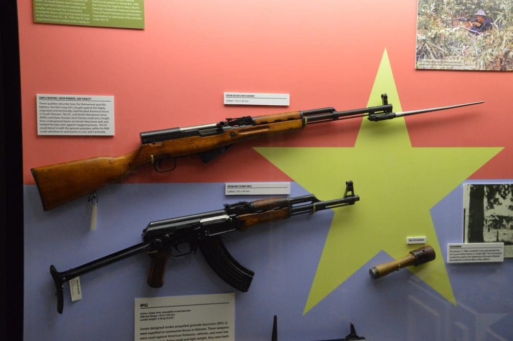 The Soviet Union and China shipped both the wood-stocked semi-auto SKS and the much handier select-fire AK to North Vietnam during the conflict, as well as other arms. (Photo: Chris Eger/Guns.com)