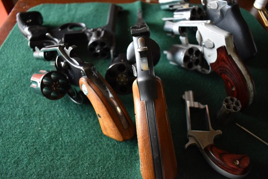 revolvers with open cylinders