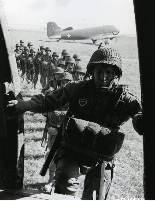 505th Training Morocco 82nd Airborne for landing in Husky Sicily 1943 Italy paratroopers M1 garand