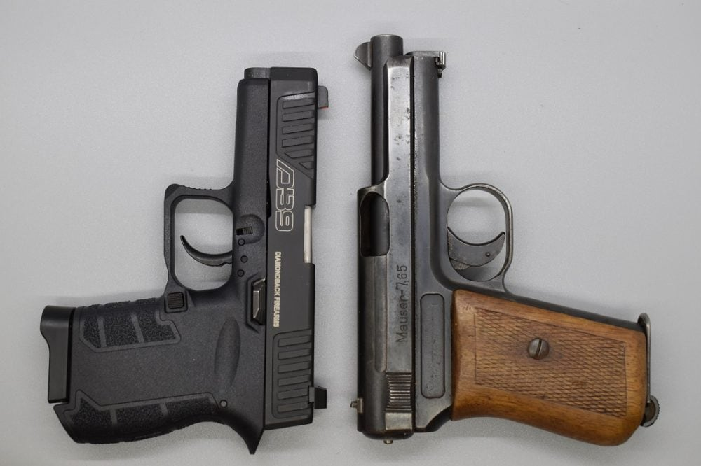 Even more dated comparisons with noir-period pocket guns, like this Mauser 1914 .32ACP, are enlightening.