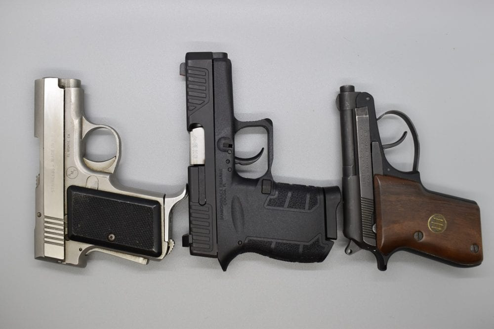 """Even when compared to other """"mouse guns"""" such as the AMT Backup and Beretta Bobcat .22LR, the DB9 is at least in the same ballpark while showing up to the ball with a larger 9mm chambering, better sights, and a longer sight radius. Moreover, height is nearly the same, an all-important issue when it comes to concealability."""