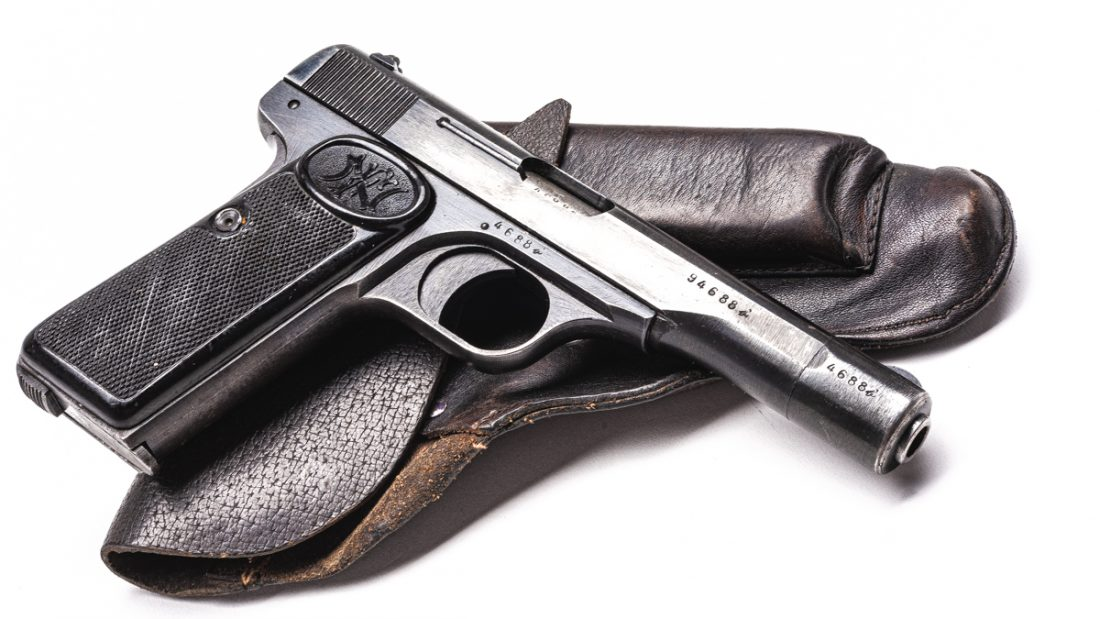 A single-stack semi-auto with a 4.5-inch barrel and weight of just 24-ounces, the FN Model 1922 was a popular gun with European armies and gendarmes in the 1930s and 40s. (Photo: Richard Taylor/Guns.com)