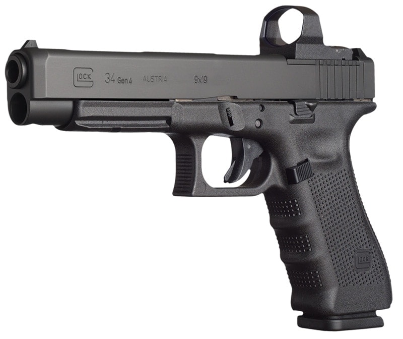 glock 34 competition handgun with sight