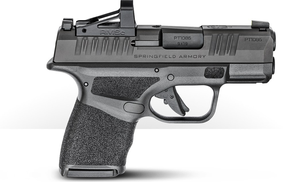 Offered in both a standard and OSP (Optical Sight Pistol) configuration, the latter uses a milled slide intended for micro red dots such as the JP Enterprises JPoint and Shield RMSc.