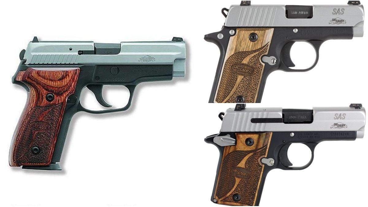 P229 P238 P938 SAS Sig pistols